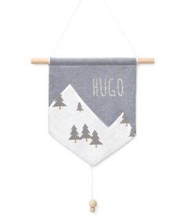 Bannière en tissu Cosy Mountain - décoration chambre bébé