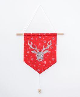 Bannière Rudolph rouge