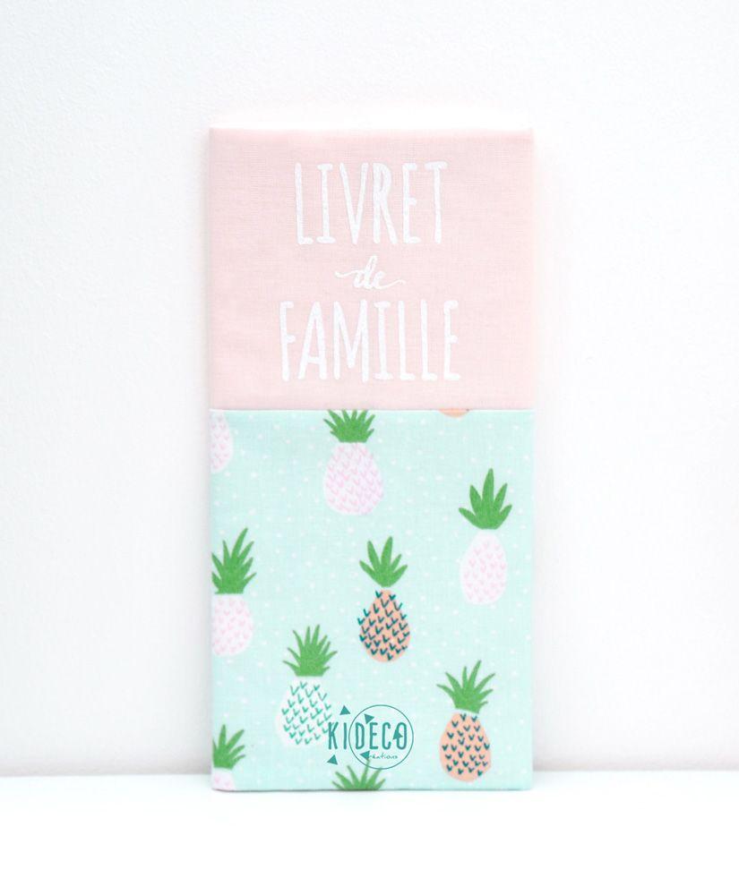 Protège livret de famille Enjoy Pineaplle personnalisable