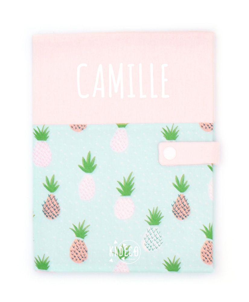 Protège carnet de santé Enjoy Pineapple personnalisable
