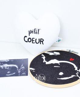 Tambour cadre décoratif de grossesse (échographie) reproduction échographie