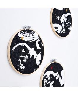 Tambour cadre décoratif de grossesse échographie