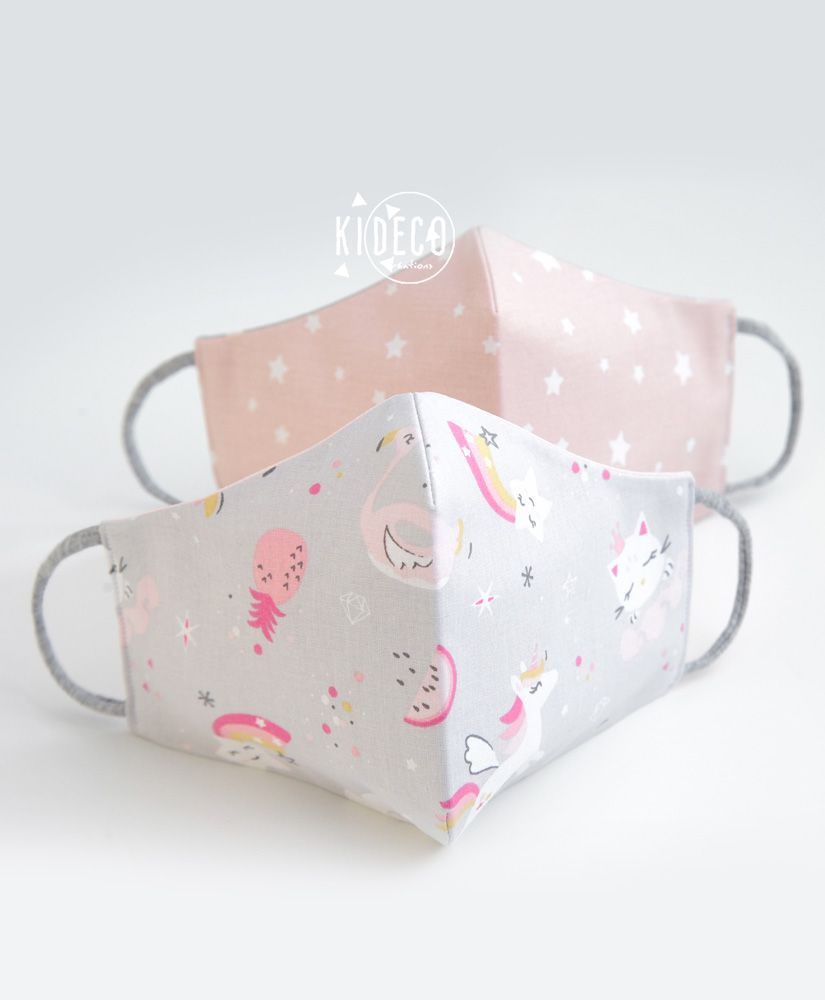 Lot de 2 masques en tissu MAGIC