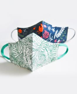 Lot de 2 masques en tissu LEAF LOVERS