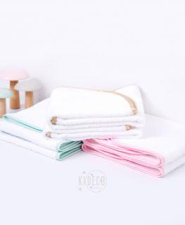 serviette amovible pour housse de matelas à langer (choix du liseré au choix : blanc, mint, rose)