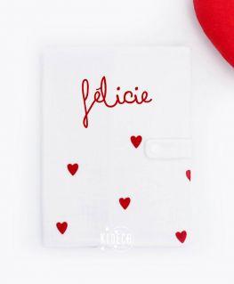 Protège carnet de santé Droit au Coeur personnalisé Félicie