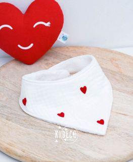 Bavoir bandana Droit au Coeur personnalisable