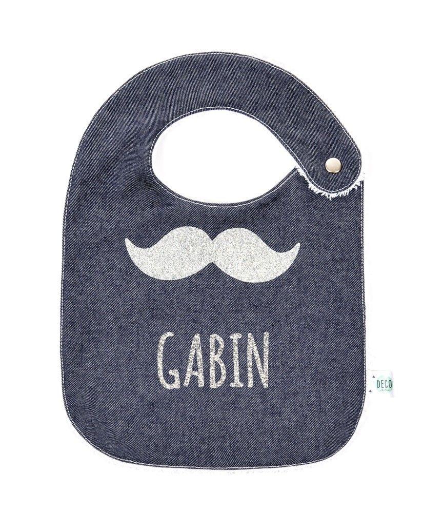 Bavoir moustache personnalisable
