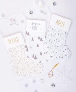 Chaussettes de Noël personnalisable (tissu au choix)