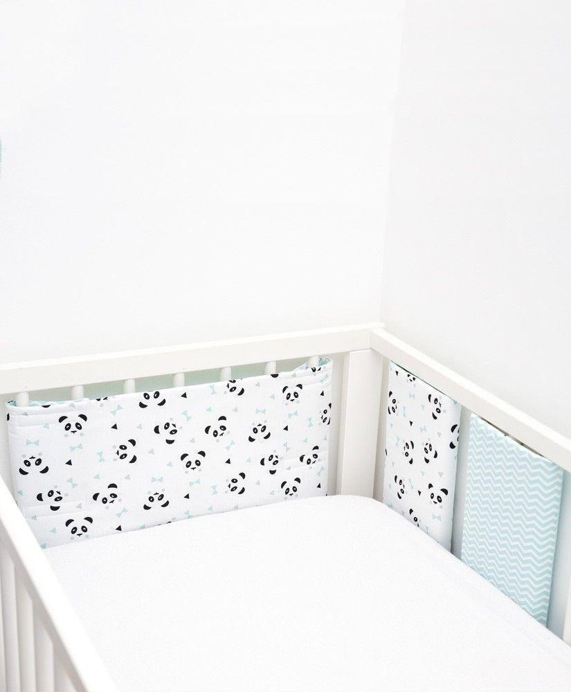 708fecee26bf Tour de lit Un, deux, trois, PANDA ! (pandas noirs et gris