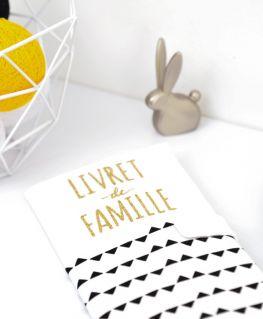 """Protège livret de famille Imagine (housse) personnalisé """"LIVRET de FAMILLE"""""""