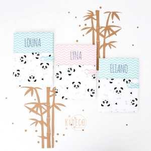 """[Un, Deux, Trois, PANDA!] 🐼🐼🐼  . Et ces modèles font toujours partie de vos favoris! #happyyou #happyme Vous aimez mes nouvelles mises en scène? . ◾️Protèges carnet de santé """"Un, deux, trois, Panda!"""" mint personnalisés LOUNA & ELIANO ◾️Protège carnet de santé """"Un, deux, trois, Panda!"""" rose personnalisé LYNA . Infos & tarifs sur l'e-shop www.kideco.fr (lien dans la bio) . Belle journée! . #kideco_creations #babyshop #babyroom #chambrebebe #deco #chambreenfant #kidsroom #mint #rose #panda #protegecarnetdesante #houssecarnetdesante #carnetdesante #grossesse #mumtobe #futuremaman #dadtobe #futurpapa #cadeaudenaissance #etsy #estyfr #faitmain #handmade #faitmain #madeinfrance"""